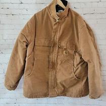 Carhartt Jacket Men's 2xl C26 Sandstone Duck Quilt Lined Coat Photo