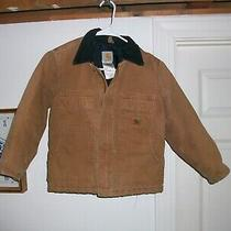 Carhartt Jacket Youth Size 8 Canvas Winter Zipper Closue Photo