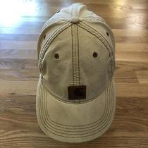 Carhartt Khaki Brown Distressed Look Baseball Cap Hat Adjustable Leather Patch Photo