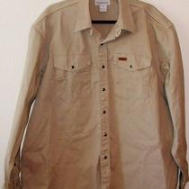 Carhartt Khaki Brown Outdoor Tradesman Work Shirt Rugged  Xl New Photo