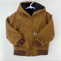 Carhartt Kids Boys Size Xs 6 Quilted Lining Hooded Tan Jacket Coat Photo