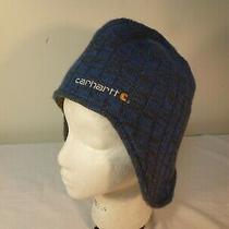 Carhartt Knit Hat Fleece Lined Ear Flap Blue - One Size Fits All Photo