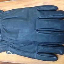 Carhartt L Black Leather Insulated Driver Gloves Euc Carhart Carhartts Carrhart Photo