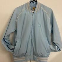 Carhartt Ladies Small Baby Blue Jacket Retro Uk 8-10 Photo