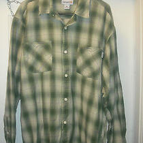 Carhartt Light Green  Plaid L/s Button Front Shirt Mens Xl  Primo Ready for Fall Photo