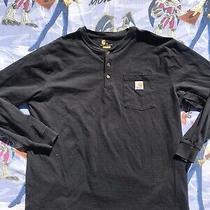Carhartt Long Sleeve Cotton/polyester 3-Button Pocket T-Shirt Men's Size Xl Photo