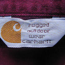 Carhartt Long Sleeve Rugged Outdoor Wear Purple Casual Shirt Photo