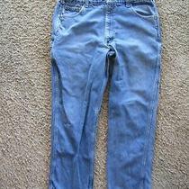 Carhartt Med Wash Straight Leg 100% Cotton Men's Pants 42 X 31 Photo