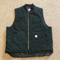 Carhartt Men Jacket Solid Deep Black Size 2xl Vest Full-Zip Sleeveless  Photo