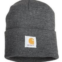 Carhartt Men's Acrylic Watch Hat Coal Winter Cold Weather Beanie One Size New Photo
