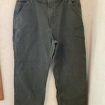 Carhartt Mens B11 Mos Dungaree Carpenter Pants Size 38 X 30 Moss Green Photo