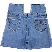 Carhartt Men's B18stw Traditional Fit Straight Leg 100% Cotton Blue Jeans 42x30 Photo