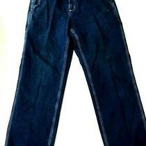 Carhartt Men's Blue Carpenter Jeans Flat Front Size 32 X 30 Dunagree Fit Photo