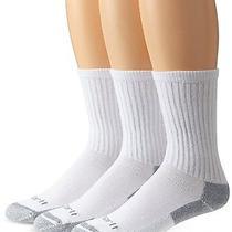 Carhartt Men's Cotton 3 Pack Crew Work Socks White Medium Photo