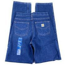 Carhartt Men's Flame Resistant Hrc 3 Cotton Nylon Nwt Blue Jeans 30x36 Photo