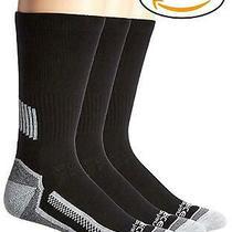 Carhartt Men's Force Performance Work Crew Socks (3/6 Packs) Black Size 6.0 5 Photo
