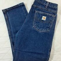 Carhartt Men's Fr Jeans Tag 34x32 (33x31) Medium Wash Denim Fire Flame Resistant Photo