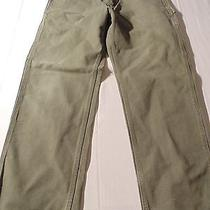Carhartt Men's Green Pants     Size 34w 32l  Very Nice (B) Photo