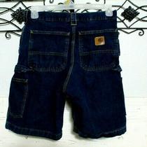 Carhartt Men's Jean Bermuda Shorts  Size 31 Blue   Photo