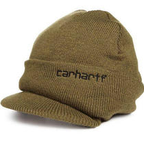Carhartt Men's Knit Hat With Visor One Size Fits Durable and Comfortable Army Photo