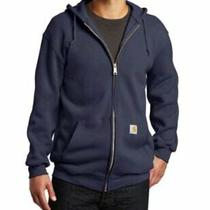 Carhartt Men's Midweight Hooded Zip Front Sweatshirt New Navy Size Large Tall Photo