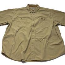 Carhartt Men's Rugged Flex Rigby Short Sleeve Work Shirt Khaki 3xl Xxxl Euc Photo