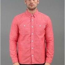 Carhartt Men's Shirt New L/s Clink Shirt Large Red Stone Wash Cotton Chambray Photo