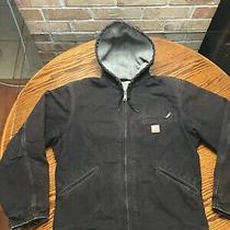Carhartt Men's Size Medium  Sherpa Lined Jacket J141 Brown Duck Hoodie Photo