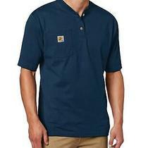 Carhartt Men's Workwear Pocket Henley Shirt Navy Large Navy Size Large Flu1 Photo