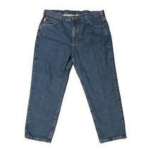 Carhartt Mens 40 X 28 Blue Denim Relaxed Fit Work Jeans B17 Photo