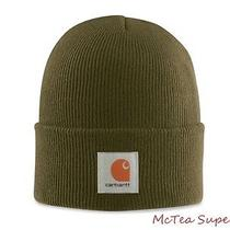 Carhartt Mens Acrylic Watch Hat A18 Army Green Beanie Cap -- Ready to Ship Photo