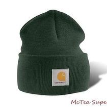 Carhartt Mens Acrylic Watch Hat A18 Dark Green Beanie Cap Ready to Ship Photo