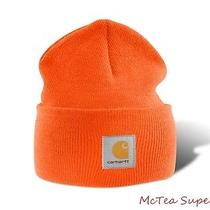 Carhartt Mens Acrylic Watch Hat A18 Orange Beanie Cap -- Ready to Ship Photo