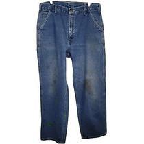 Carhartt Mens Blue Solid Dungaree Fit Denim Carpenter Jeans 38x34 Set of 3 Pairs Photo