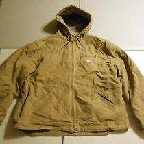 Carhartt Mens Fleece Lined Tan Brown Zip Up Coat Jacket Size 3xl Photo