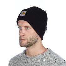 Carhartt Mens One Size Watch Hat Black Beanie Cap Winter Seasonal Outerwear Photo