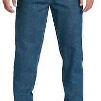 Carhartt Mens Relaxed-Fit Tapered-Leg Blue Jean Workwear Denim B17 Work Pants Photo