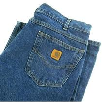 Carhartt Mens Size 32x36 Relaxed Fit Straight Leg Blue Jeans B160 Dst Nwt Photo