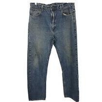 Carhartt Mens Work Denim Blue Jeans Outdoors 38 W X 34 L Photo