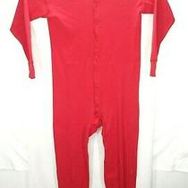 Carhartt  Mens Xl Long Johns Red Pajamas  Thermal Underwear  One Piece Sleepwear Photo
