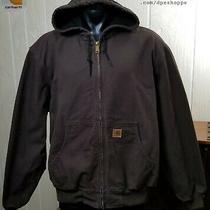 Carhartt Mesh Lined Hooded Long Sleeve J208dkb Work Jacket Sz 2xl Photo