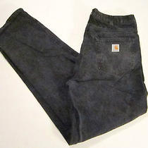 Carhartt Mottled Gray Jeans 36 X 32 Made in Usa Grunge Faded Excellent Photo