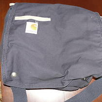 Carhartt Navy Blue Messenger Book Computer Shoulder Bag Cotton Euc Photo