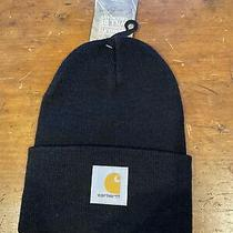 Carhartt Osfa A18 Watch Cap Black Carhartt  Badge Black/yellow Msrp 17 Photo