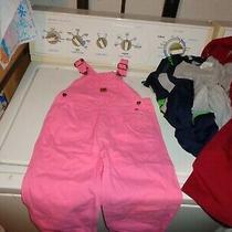 Carhartt Pink Overalls Coveralls Bib Canvas Cotton - Heart Buttons - 3t Photo