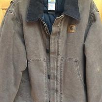 Carhartt Quilt Lined Heavy Work Barn Carpenter Jacket Coat J22 Cht Xl Photo