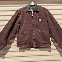 Carhartt Ranch Jacket Us Men's Size Large Tall Brown Color Flannel Lined Photo