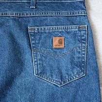 Carhartt Relaxed Fit Blue Denim Jeans Men's Size 50 X 32 Excellent Photo