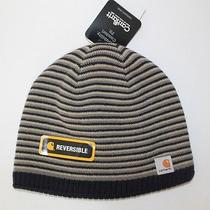 Carhartt Reversible Knit/fleece Striped A315 Cap Hat  New With Tags  Free Ship Photo