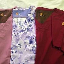 Carhartt Scrub Tops 3 Tops Like New Size Xl Free Shipping Photo